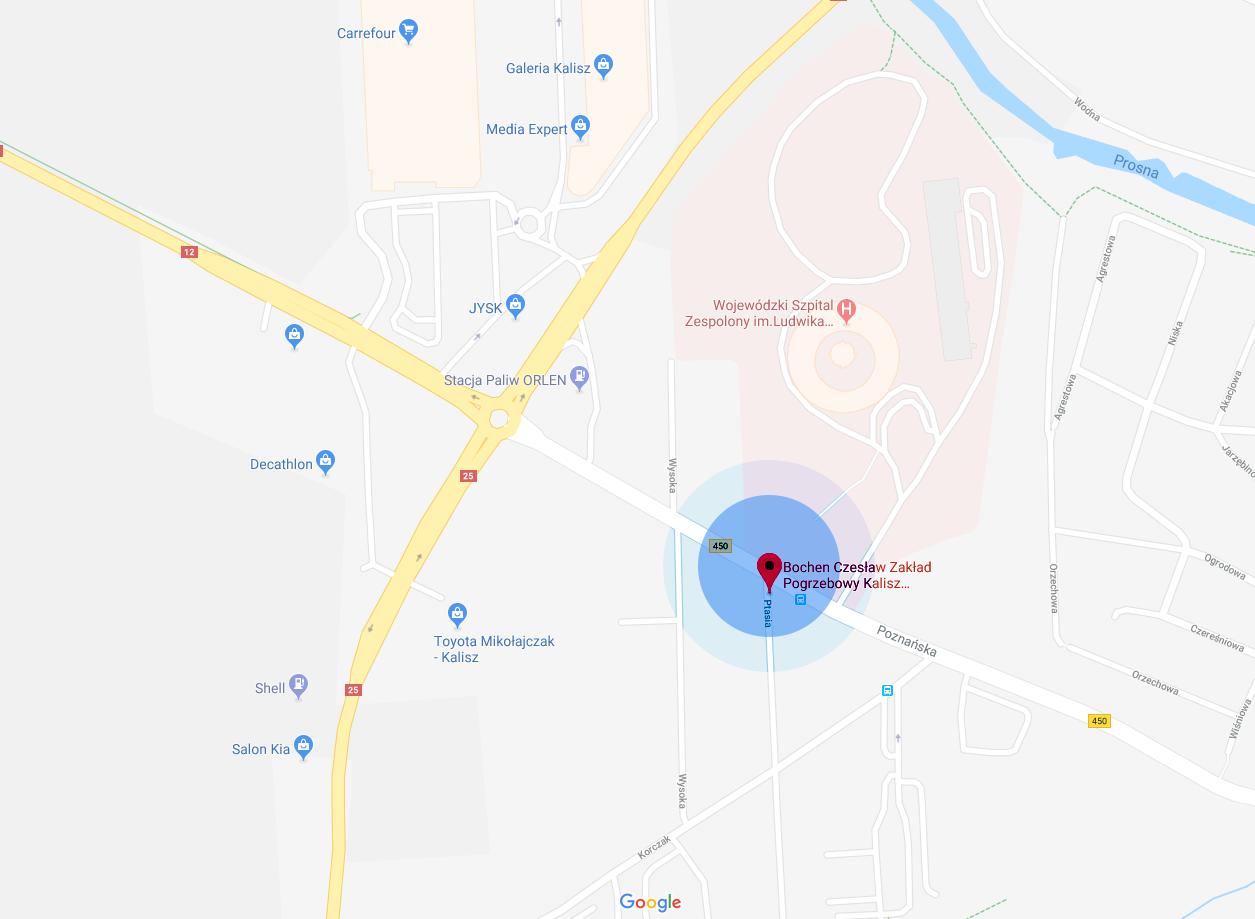 Bochen Pogrzeby Kalisz - Jak dojechać